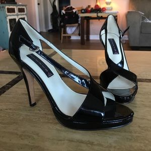 Steven by Steve Madden black leather heels size 9